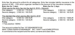 Entry fee JCB